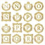 欧式花纹边框字母