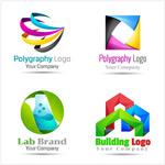 抽象立体logo