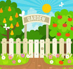 丰收的果树园