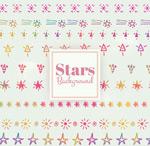 彩绘星星背景