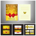 金色圣诞节贺卡