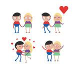 简洁卡通情侣