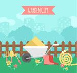 园艺工具插画