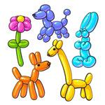彩色气球动植物