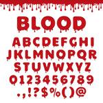 红色油漆字母
