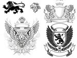 狮子皇冠盾牌徽章