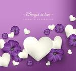 花卉和白色爱心