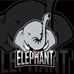 大象图案矢量