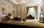 欧式时尚卧室模型