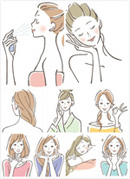 女性矢量素材