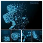 发光粒子连线图形