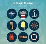 复古航海图标