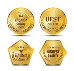金色质感高档标签