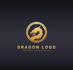 圆形龙头logo