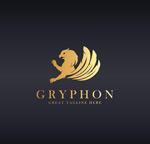 金色狮鹫logo
