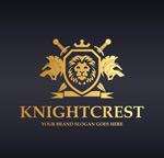 金色骑士盾牌logo