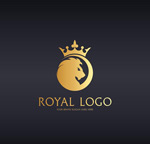 金色皇冠狮子logo