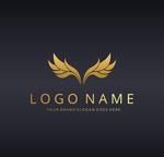 金色翅膀logo