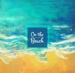 彩绘海边沙滩风景