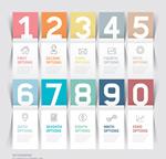 创意纸条数字图表