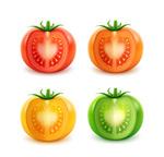 不同颜色的西红柿