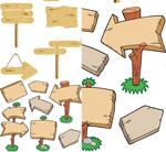 木纹指示牌矢量