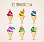 卡通甜筒冰淇淋