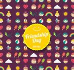友谊日元素贺卡