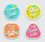 彩色夏季促销标签