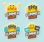 太阳夏季促销标签