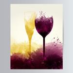 红酒与香槟酒