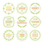 素食餐馆标签