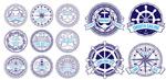 手绘航海徽章