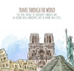 手绘世界著名建筑