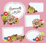花朵图案标签