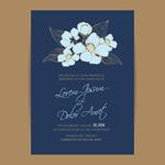 白描花朵邀请函