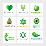 创意绿叶元素标志