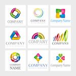 彩色商业标志