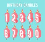 数字生日蜡烛