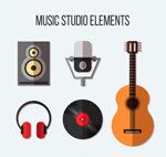 音乐工作室元素