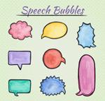 卡通语言气泡
