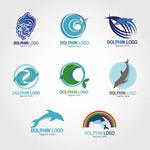 海豚标志矢量