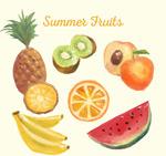 水彩水果矢量
