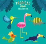 卡通热带动物