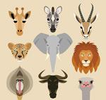 卡通野生动物头像