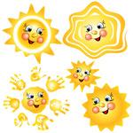 卡通太阳矢量