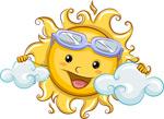卡通开心太阳矢量