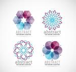 抽象花形商务标志
