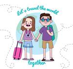 环游世界的情侣