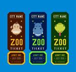 动物园门票矢量